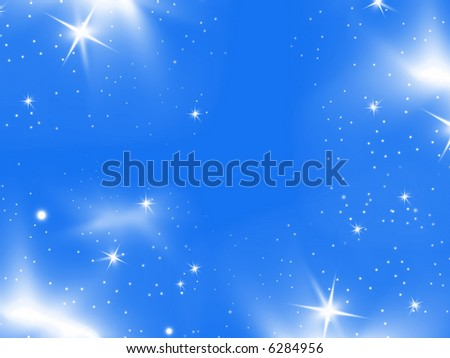 abstract winter decorated blue background