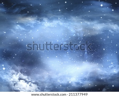 abstract winter sky, background - stock photo