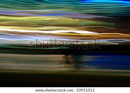 Abstract with Blurred lights and bicycle shape - stock photo