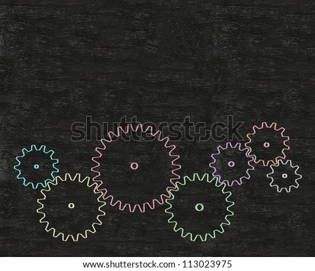 abstract with copy space in cog wheel - stock photo