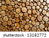 abstract wood log background close-up - stock photo