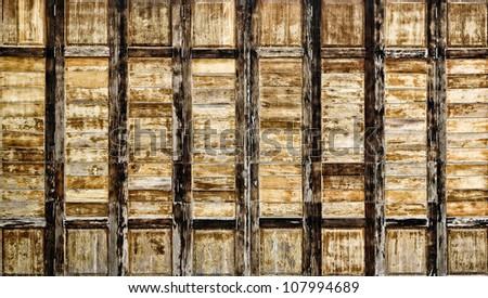 Abstract wood pattern ; interiors wall. - stock photo