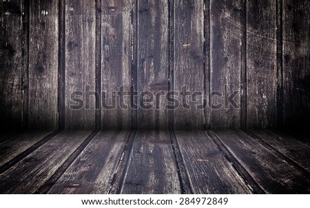 Abstract Wooden Interior Walls Stage Background - stock photo