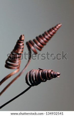 Abstract wooden spiral