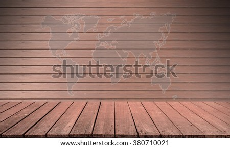 Abstract wooden wall red color map background. - stock photo