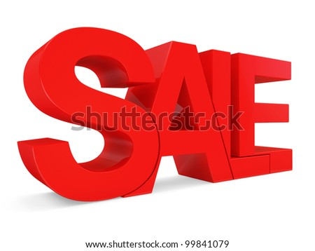 Abstract Word Sale on white background