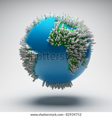 Abstract world design - stock photo