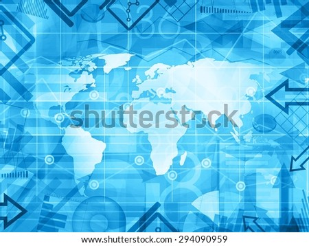 abstract world financial news background illustration