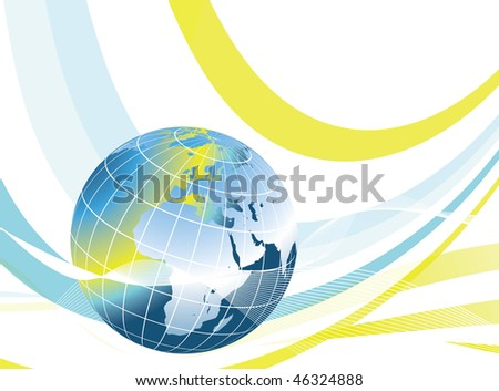 Abstract world globe illustration design