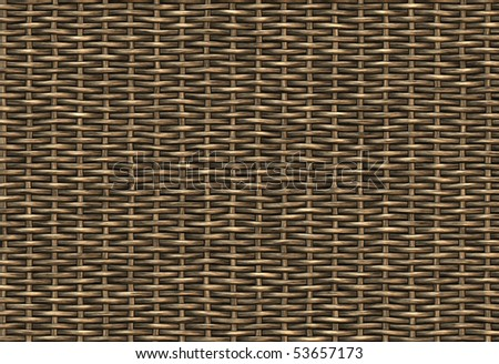 abstract woven wicker background texture - stock photo