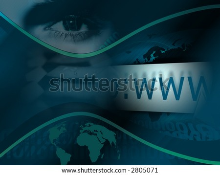 Abstract www background. - stock photo