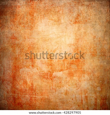 Abstract yellow and brown background or paper with grunge texture. For vintage layout design of colorful graphic art or border frame