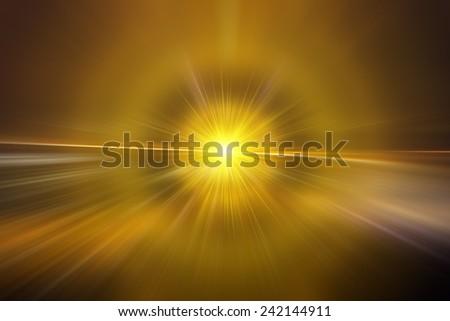 Abstract yellow background, Beautiful rays of light. - stock photo
