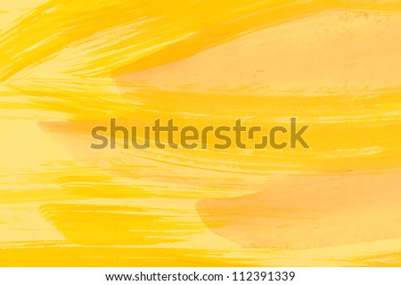 Abstract yellow background from watercolor - stock photo