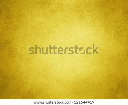 abstract yellow background or gold Christmas background with bright center spotlight, vintage grunge background texture, gold Christmas paper layout design for luxury holiday background ad - stock photo