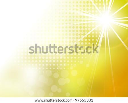 Abstract yellow background sun burst - stock photo