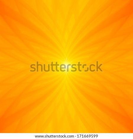 Abstract yellow background with stylish orange tones. illustrated macro flower background - stock photo