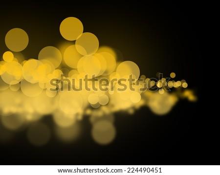 Abstract yellow bokeh circles - stock photo