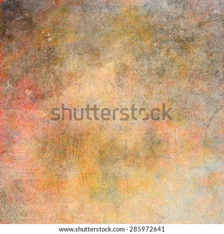 Abstract yellow , brown and green background or paper with grunge texture. For vintage layout design of colorful graphic art or border frame - stock photo
