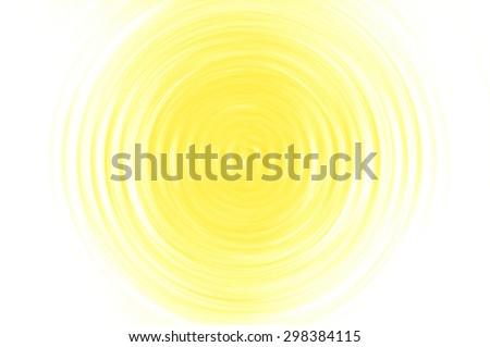 Abstract yellow circle - stock photo