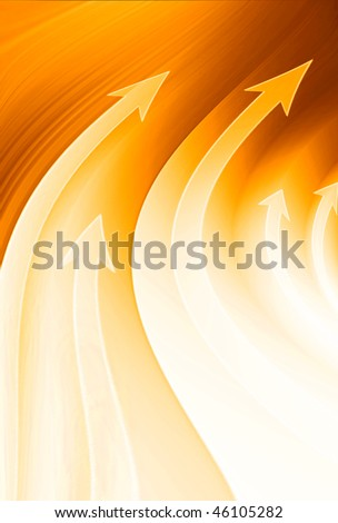 Abstract yellow growth - stock photo