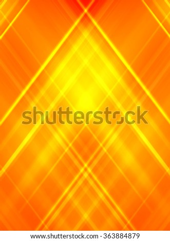 Abstract yellow on orange background. - business card - stock photo