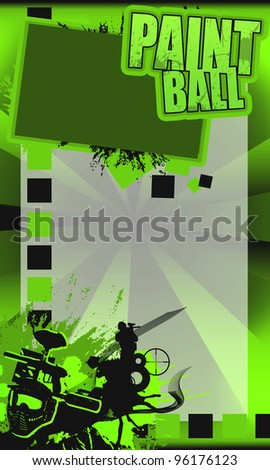 Abstract yellow paintball art (poster, background, leaflet, web) - stock photo
