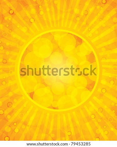 Abstract yellow summer background - stock photo