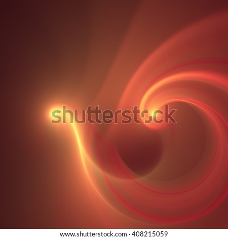 Abstract yelow fractal texture background, concept of fire bird - stock photo