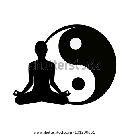 abstract yoga background - vector version in portfolio - stock photo