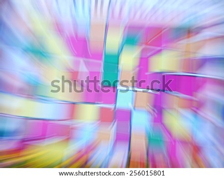 Abstract zoom light background. Radial motion blur / zooming effect - stock photo