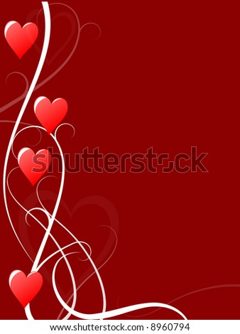 abstracted valentine card - stock photo