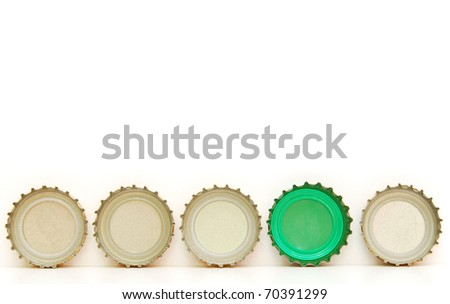 abstracting on beverage caps - stock photo