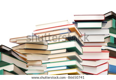 Abstracting on textbook's learning - stock photo