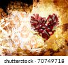 Abstraction. A stain of a paint. ornament - stock photo