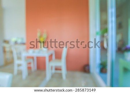 Abstraction blur from the dining room - stock photo