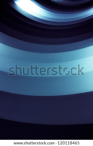 abstraction from blue shining tube - stock photo
