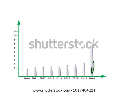 Abstraction Form Pens Showing Graph Dollar Stock Photo (Edit Now ...