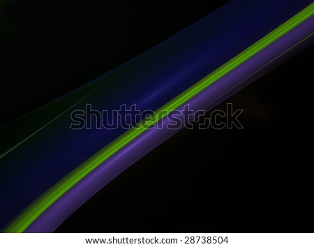 Abstraction on a black background