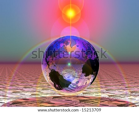 Abstraction on a theme the financial world - stock photo
