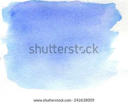 Abstractive blue watercolor texture as grunge background. - stock photo