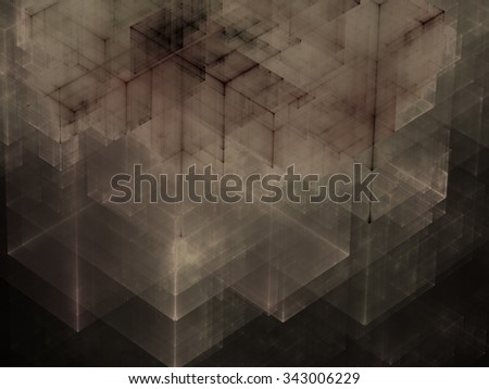 Abstracts background with transparent rectangular shapes as conceptual metaphor for modern technology, science and business. Stylish background texture for design projects. - stock photo