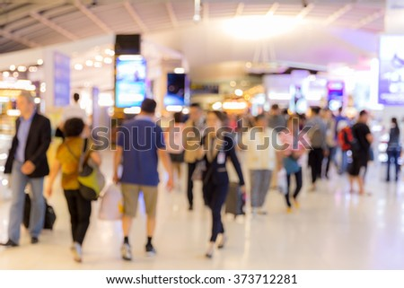 Abstrast Blurred background : airport boarding area - stock photo