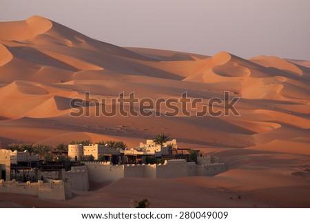 Abu Dhabi desert - stock photo