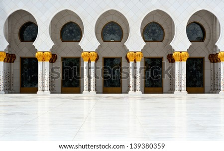 Abu-Dhabi. Sheikh Zayed mosque - stock photo