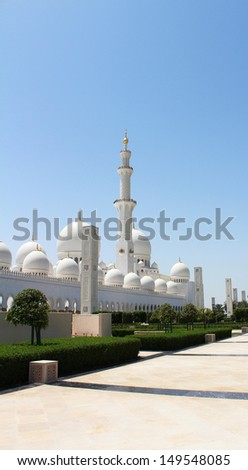 Abu Dhabi Sheikh Zayed Mosque - stock photo