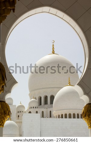Abu Dhabi Sheikh Zayed White Mosque, the United Arab Emirates - stock photo