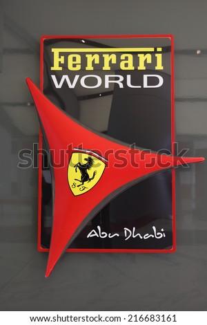 ABU DHABI, UAE - JUNE 1: Ferrari World Theme Park in Abu Dhabi. June 1, 2011 in Abu Dhabi, United Arab Emirates  - stock photo