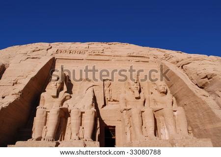 Abu Simbel temple - stock photo
