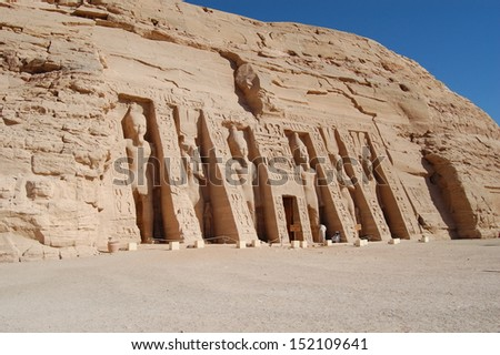 Abu Simbel Temple . Egypt - stock photo